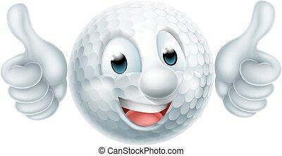 Kartoon Golfballmann.