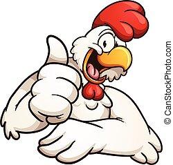 Kartoon-Hühnchen