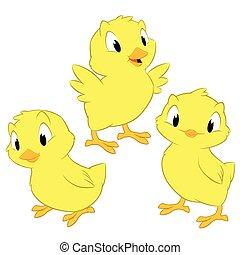 Kartoon-Hühner