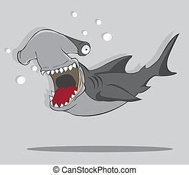 Kartoon Hammerfischhai