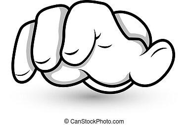 Kartoon Handfinger zeigen Vektor.