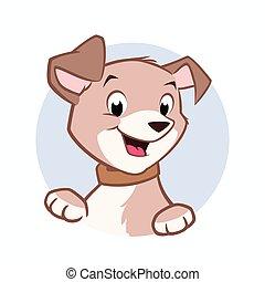 Kartoon-Hund.