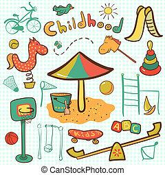 Kartoon Kinderspielplatz Ikone.