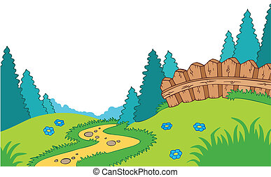 Kartoon Landlandschaft.