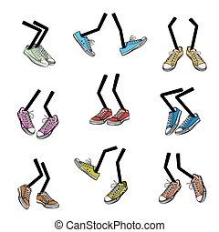 Kartoon laufende Füße