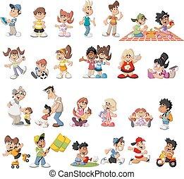 Kartoon-Leute.