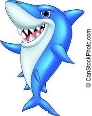 Kartoon lustiger Hai.