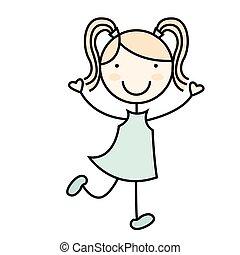Kartoon-Mädchen-Ikone.