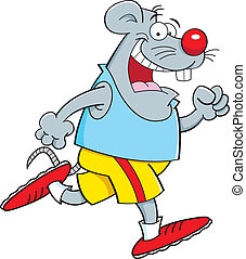 Kartoon Maus läuft.