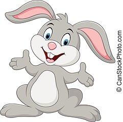 Kartoon niedliches Kaninchen posieren.