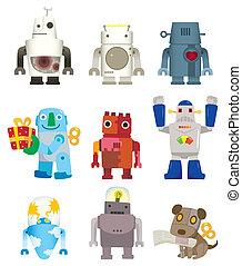Kartoon-Roboter-Ikone.