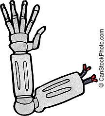 Kartoon-Roboterarm.