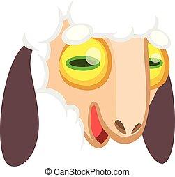 Kartoon Schafsgesicht