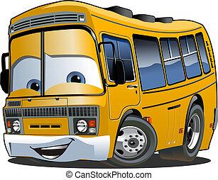 Kartoon Schulbus