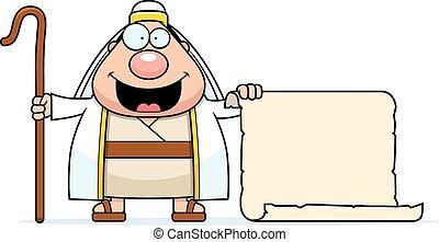 Kartoon-Shepherd-Schild.