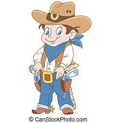 Kartoon Sheriff Boy