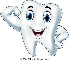 Kartoon starker Zahncharakter.