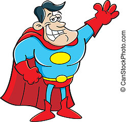 Kartoon Superheld.
