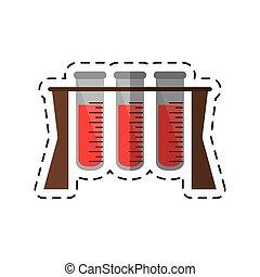 Kartoon-Test-Röhre-Medizinlabor.