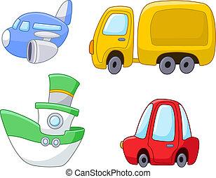 Kartoon-Transport bereit.