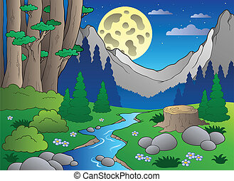 Kartoon Waldlandschaft 3.