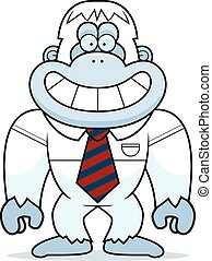 Kartoon Yeti Krawatte.