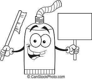 Kartoon Zahnpastaröhre mit einem s.