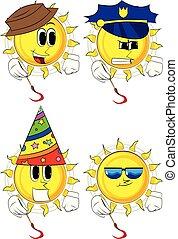 Kartoonkünstler Sonnenmalerei.