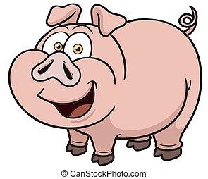 Kartoonschwein.