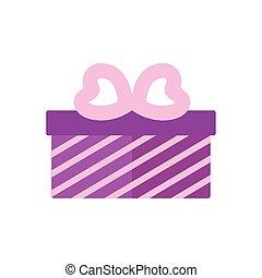 kasten, geschenk, geschenk, lieben herz