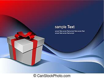 kasten, geschenk, holiday., abbildung, hell, vektor, irgendein