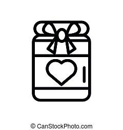 kasten, herz, geschenk, geschenk, liebe