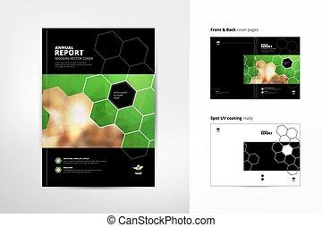Katalog Cover Design. Jahresbericht. Brochure-Design. Titelseite und Rückseite. Business-Flyer, Magazin-Vorlage. Einfach zu bedienen und zu bearbeiten. Spot UV-Beschichtung. A4 Vektorvorlage