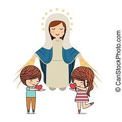 Katholisches Liebesdesign.