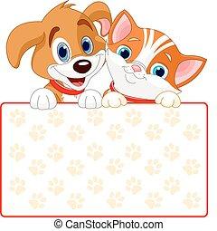 Katzen- und Hundezeichen
