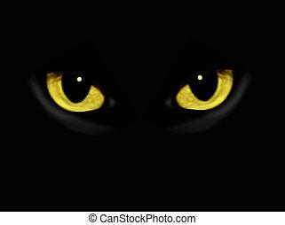 Katzenaugen in der Nacht