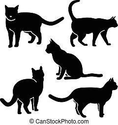 Katzensilhouette Vektor.