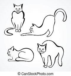 Katzenvektorensammlung