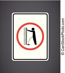 Kein Urinieren bitte - Stopp Akt der Vandalismus Straße - Verbot der Urinierung.