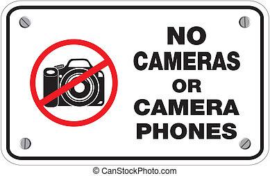 Keine Kameras oder Handys.