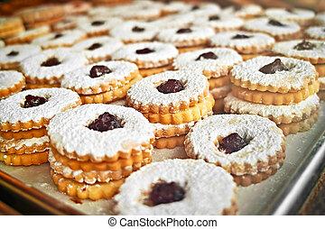 Kekse auf dem Backteller