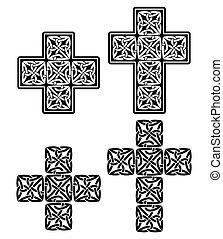 Keltisches Kreuzdesign.