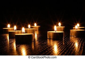 kerze, romantische , licht