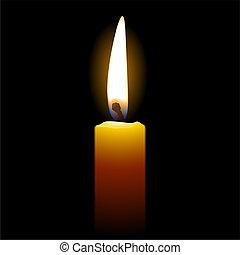 Kerzen auf schwarzem Hintergrund