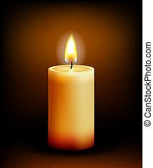 Kerzenlicht der Kirche