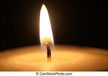 Kerzenlicht in der Nähe