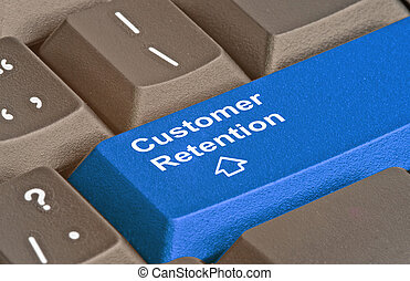 Keyboard zur Kundenbindung.