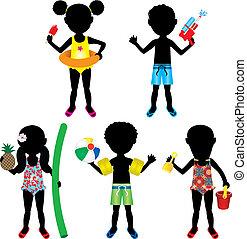Kids Badeanzug-Silhouette 2