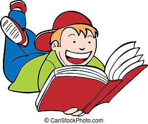 Kind lesen, Junge