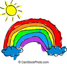 Kind Regenbogen.